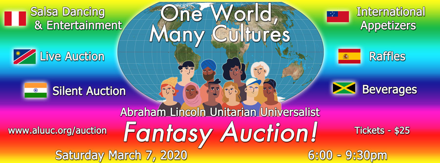 Fantasy Auction: One World, Many Cultures on Saturday, March 7, 2020