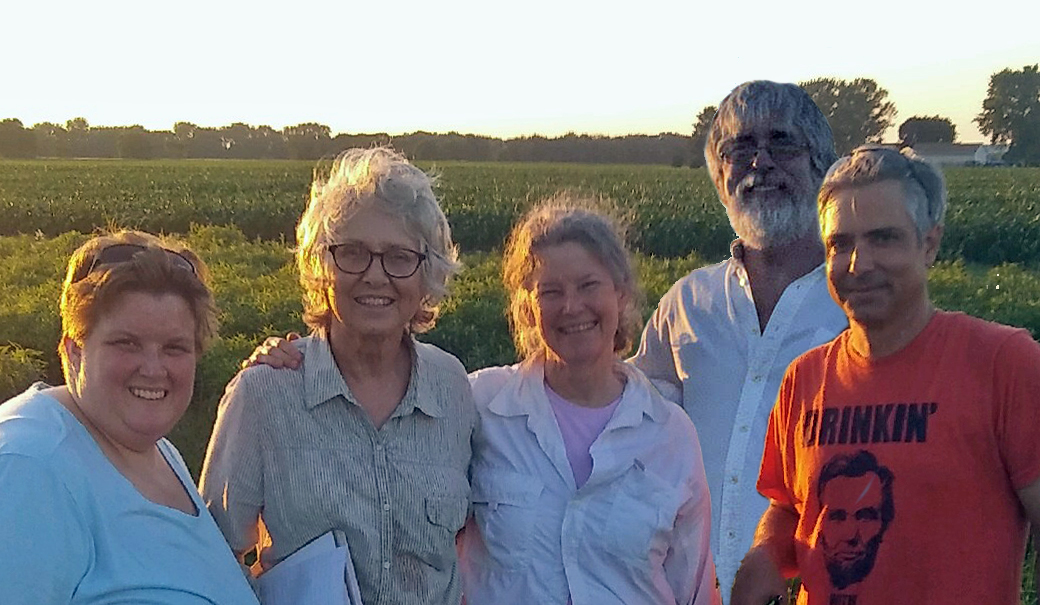 Covenant group members Anna Sabin, Virginia Forrer, Carol Kneedler, Greg Greeley, and Tony Gambiani help maintain the prairie!