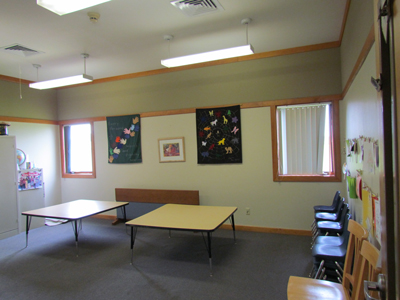 Our Alcott Room is one of our 6 classrooms and is typically used for our Pre-K and Kindergarten students.