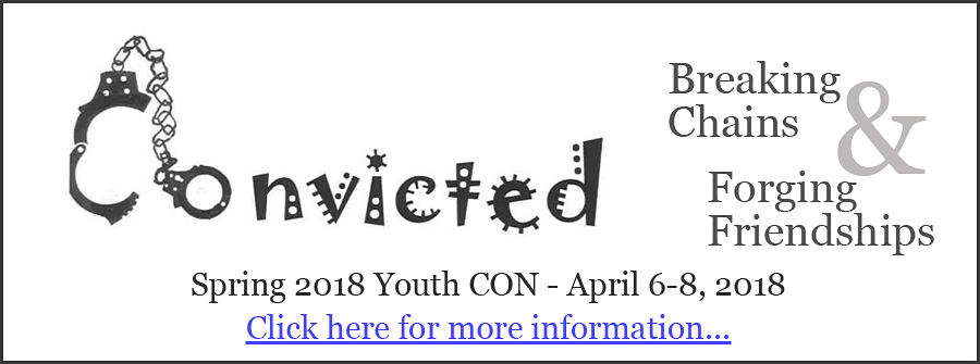 "CONvicted: Breaking Chains and Forging Friendships – Spring 2018 Youth Con The Abraham Lincoln UU Congregation and SAYC present ""CONvicted: Breaking Chains and Forging Friendships"" on April 6-8, 2018."