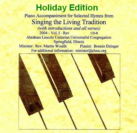 Christmas Holiday Edition - Piano Accompaniment for More Hymns - Music by Bonnie Ettinger.