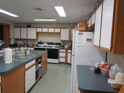 Our Kitchen features two gas stoves, two fridges, two preparation sinks, and other various Kitchen supplies