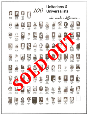Poster - 100 Famous Unitarians & Universalists - currently sold out